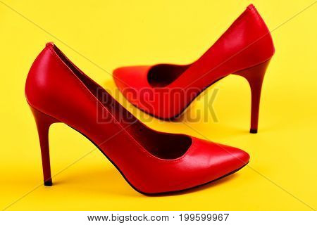 Elegant Female Shoes As Fashion And Beauty Concept