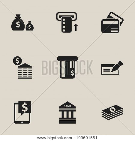 Set Of 9 Editable Finance Icons. Includes Symbols Such As Electronic Retail, Introduce, Location And More