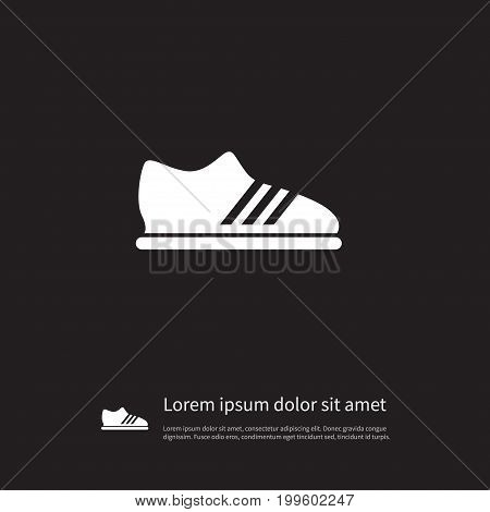 Snickers Vector Element Can Be Used For Snickers, Footwear, Gumshoes Design Concept.  Isolated Running Icon.