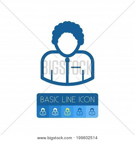 Man Vector Element Can Be Used For Man, Orator, Speaker Design Concept.  Isolated Orator Outline.