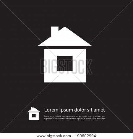 Residence Vector Element Can Be Used For Residence, Home, House Design Concept.  Isolated Build Icon.
