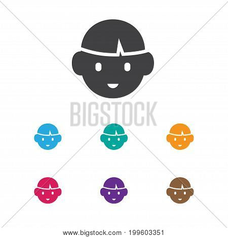 Vector Illustration Of Relatives Symbol On Boy Icon