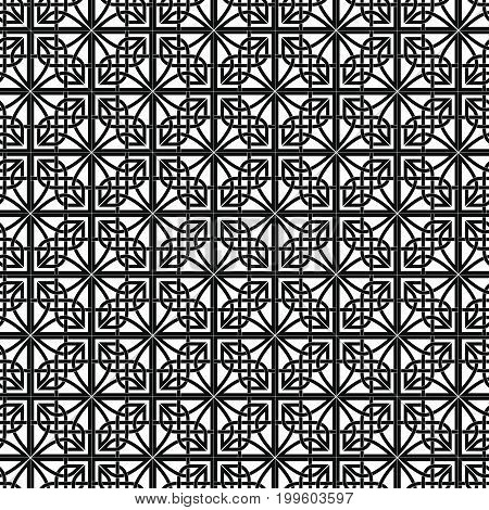 Celtic national seamless ornament background. Black ornament isolated on white background.