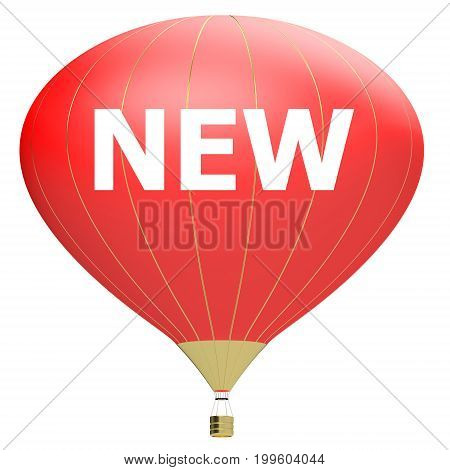 Sale poster concept with percent discount.3d illustration banner with air balloon. Design for banner flyer and brochure for event promotion business or department store. Isolated on white background