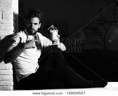 Handsome Bearded Macho Sexy Man