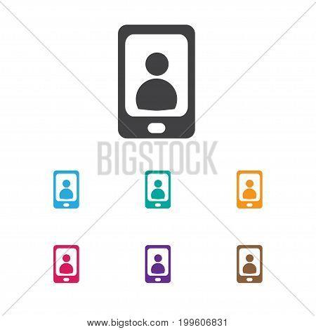 Vector Illustration Of Bureau Symbol On Phone Icon