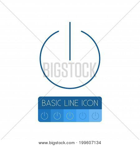 Start Vector Element Can Be Used For Start, Turn, Button Design Concept.  Isolated Turn Off Outline.