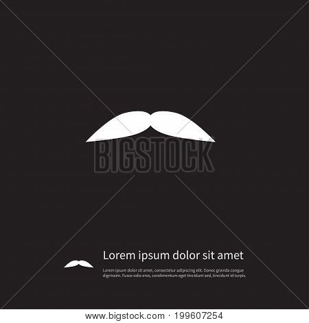 Grooming Vector Element Can Be Used For Grooming, Goatee, Moustache Design Concept.  Isolated Goatee Icon.