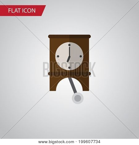 Clock Vector Element Can Be Used For Clock, Watch, Pendulum Design Concept.  Isolated Pendulum Flat Icon.