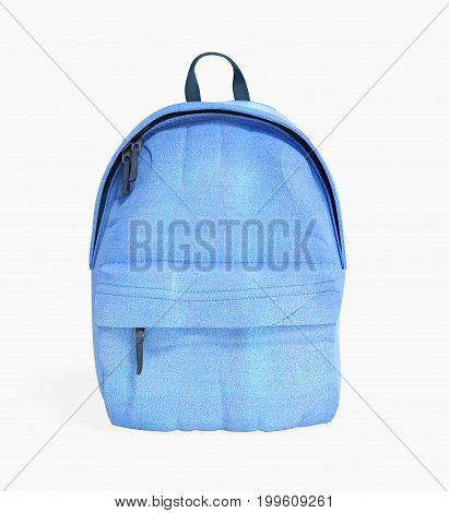 Backpack Bag School 3D Render On White No Shadow
