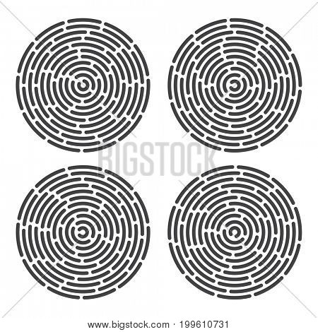 abstract information and identification fingerprint set