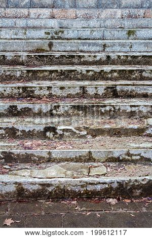 Old dirty stairs detail. Architecture detail background