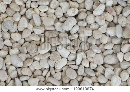 White Rounded rocks stones Texture abstract background