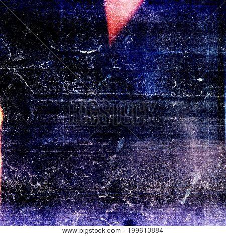 Designed medium format film background with heavy grain dust and light leak