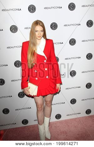 LOS ANGELES - AUG 12:  Larsen Thompson at the 5th Annual Beautycon Festival Los Angeles at the Los Angeles Convention Center on August 12, 2017 in Los Angeles, CA