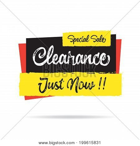 Super Sale Clearance  Heading Design For Banner Or Poster. Sale And Discounts Concept. Vector Illust