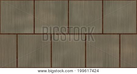 Rusty Seamless Metal Tile Plate Texture