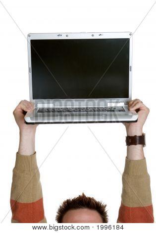 Laptop Held High