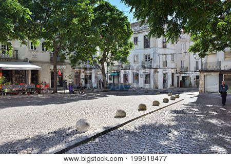 Square In Setubal, Portugal
