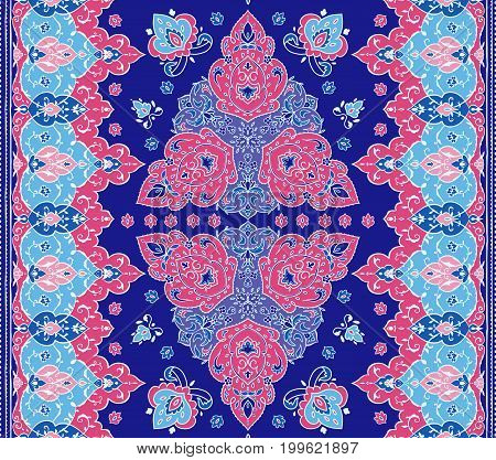 Islamic floral pattern in Victorian style, arabesque design. Ornamental for Card for cafe, banner, wedding invitation, book cover, certificate. Save the date. India, Arabic Dubai turkish Islam