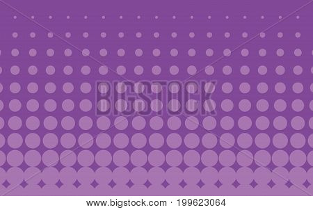 Halftone background. Comic dotted pattern. Pop art retro style. Backdrop with circles, rounds, dots, design element for web banners, posters, cards, wallpapers. Purple Vector illustration