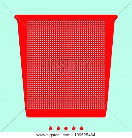 Trash Bucket  It Is Color Icon .