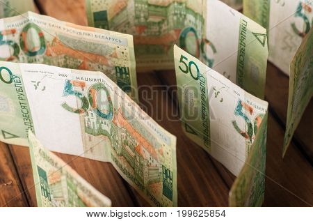The Maze Is Made Of Banknotes. Financial Difficulties. Conceptual Photography