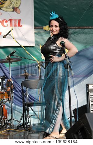participant Marina Grachova on traditional competition best beautiful mermaid on