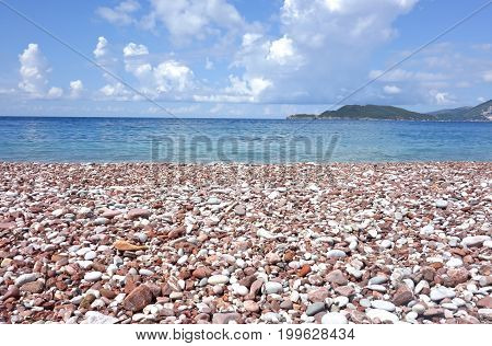 an image of a stone beach in Montenegro