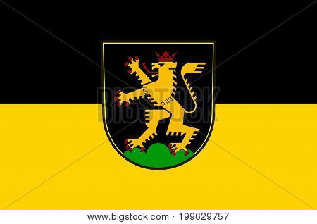 Flag of Heidelberg is a college town in Baden-Wurttemberg of Germany. Vector illustration from the