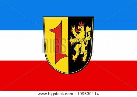 Coat of arms of Mannheim is a city in the southwestern part of Germany. Vector illustration from the
