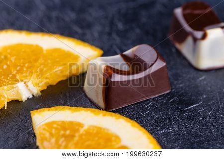 Handmade Black And White Chocolate Candy