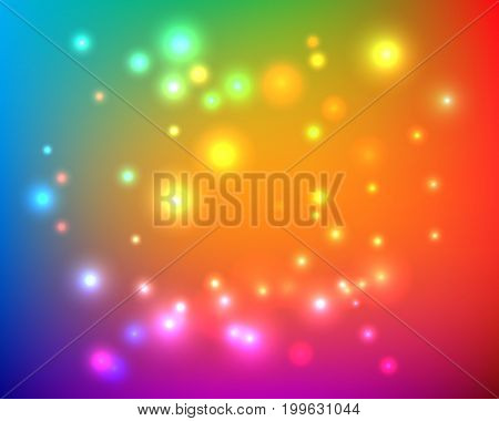 Abstract blurred bright colorful gradient mesh background with color lights.