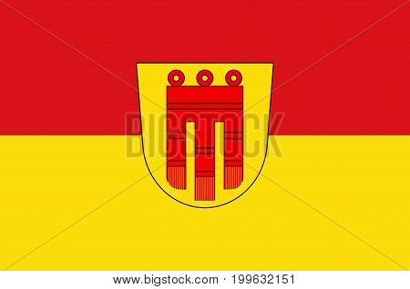 Flag of Boblingen is a city in the middle of Baden-Wurttemberg Germany. Vector illustration from the