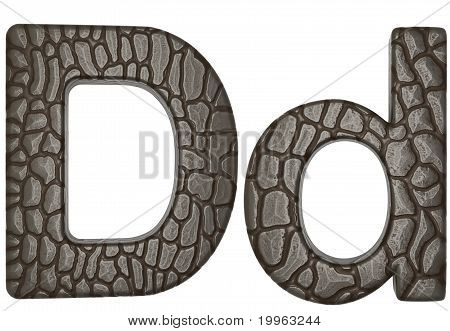 Alligator Skin Font D Lowercase And Capital Letters