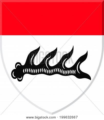 Coat of arms of Goppingen is a town in Stuttgart Region of Baden-Wurttemberg Germany. Vector illustration from the