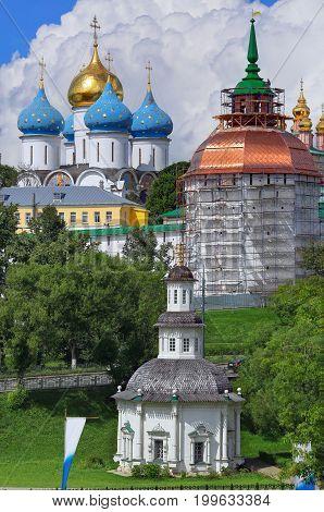 Reconstruction of the Sergiev Posad monastery, Russia