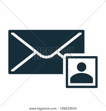 Envelope Icon Flat Black Closed Contact