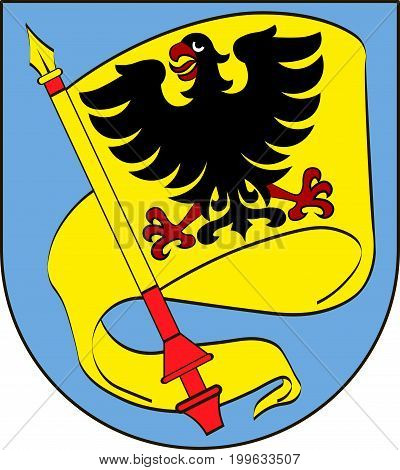 Coat of arms of Ludwigsburg is a city in Baden-Wurttemberg Germany. Vector illustration from the