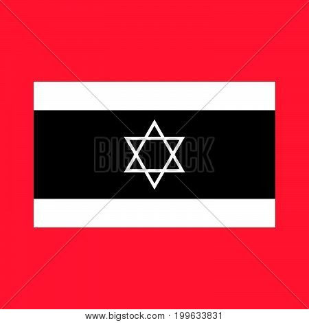 Flag Of Israel White Color Icon .