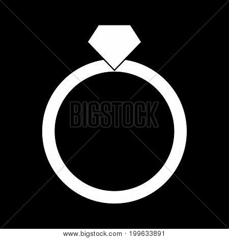 Ring White Color Icon .