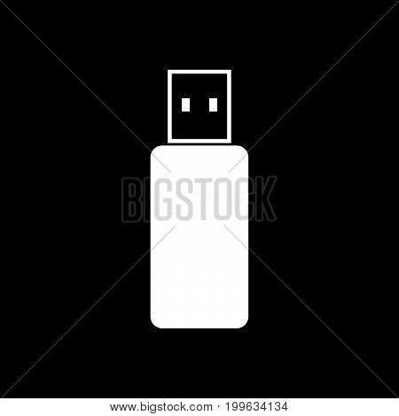 Flash Drive White Color Icon .