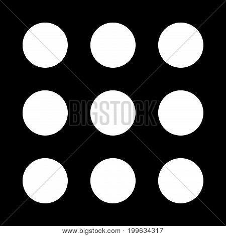 Dial Button White Color Icon .