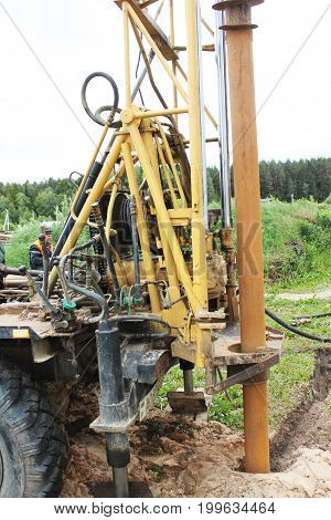 View of drilling machine Core Drilling driller
