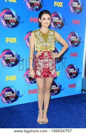 LOS ANGELES - AUG 13:  Lucy Hale at the Teen Choice Awards 2017 at the Galen Center on August 13, 2017 in Los Angeles, CA