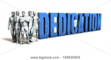 Dedication Business Concept as a Presentation Background 3D Illustration Render