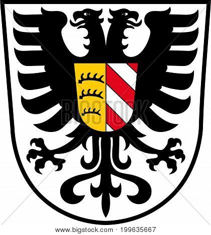 Coat of arms of Alb-Donau-Kreis is a district in Baden-Wuerttemberg Germany. Vector illustration from the