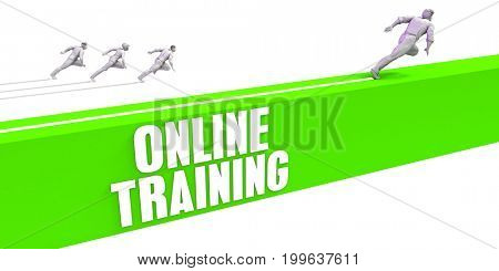 Online Training as a Fast Track To Success 3D Illustration Render