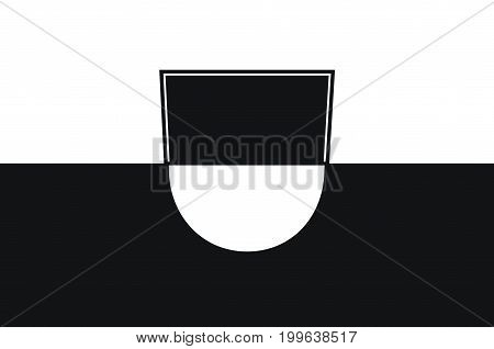 Flag of Ulm is a city in Baden-Wurttemberg Germany. Vector illustration from the