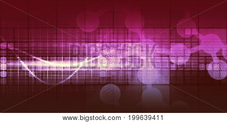 Disruptive Science and Technology as a Abstract Background 3D Illustration Render